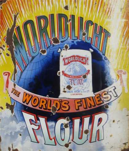 Woldlight Flour Liverpool Enamel Sign