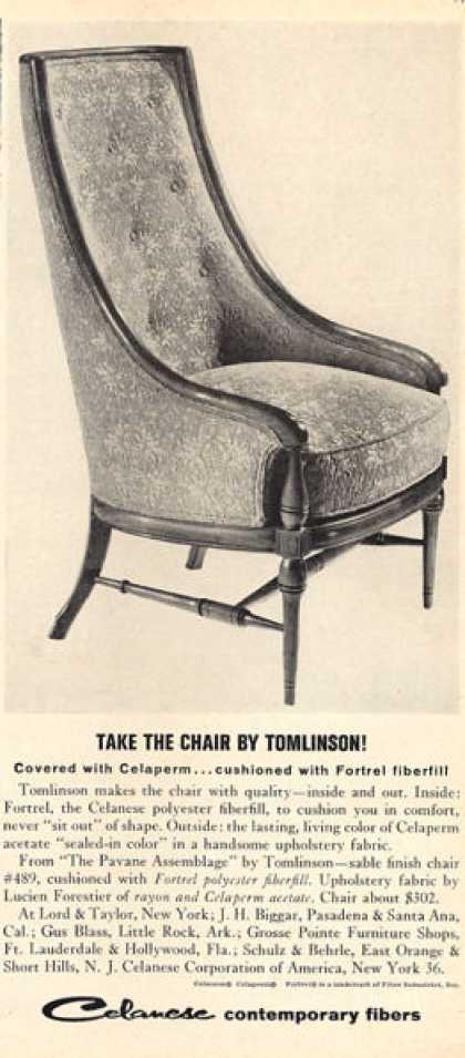Tomlinson Furniture Chair Pavane Assemblage (1963)