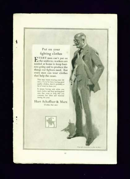 Hart Schaffner & Marx Fighting Clothes (1918)