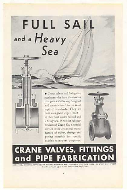 Crane Valves for Marine Service Sailboat (1935)