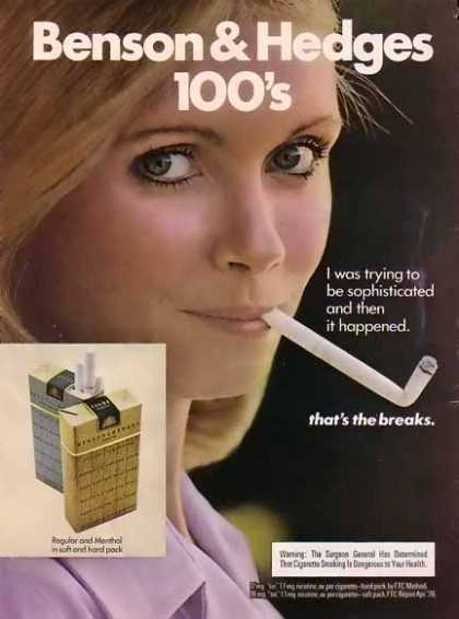 Benson & Hedges Cigarettes – Then It Happened. (1977)