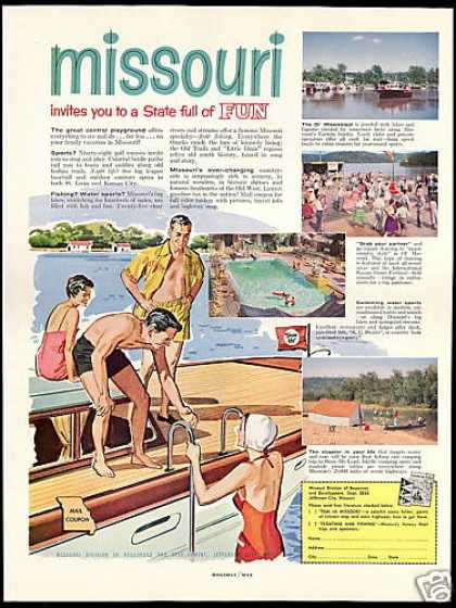 Missouri State Travel Vintage (1958)