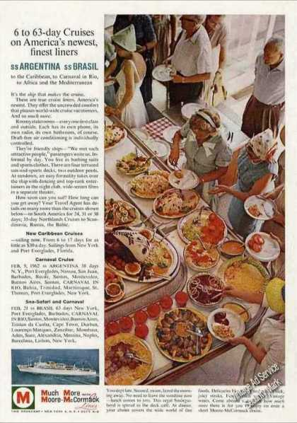 Ss Argentina & Ss Brasil Cruises Food Display (1961)
