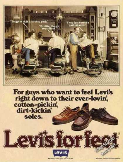Levi&#8217;s for Feet Ever-lovin Dirt-kickin Soles (1978)