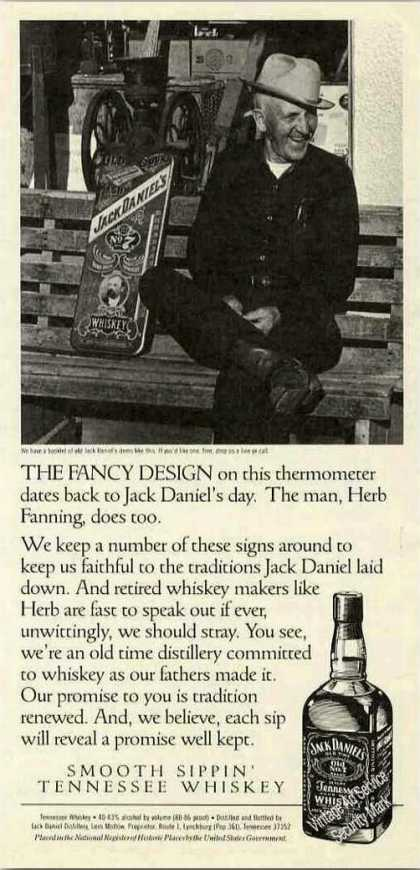 Jack Daniel's Fancy Thermometer Herb Fanning (1991)