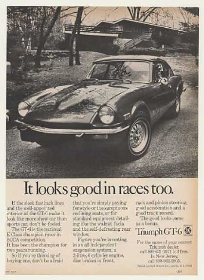 Triumph GT-6 Sports Car Looks Good in Races Too (1971)