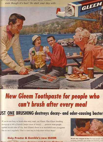 Gleem's Tooth Paste with GL-70 (1955)