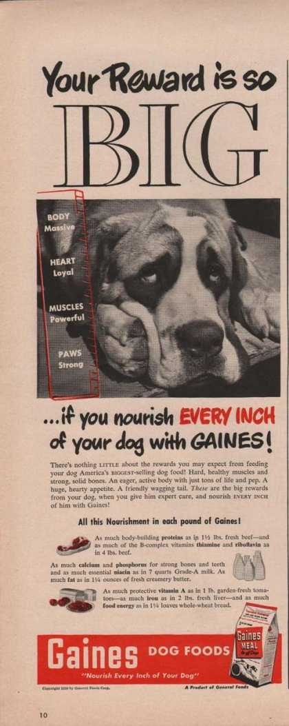 Gaines Dog Food Sad Dog (1950)