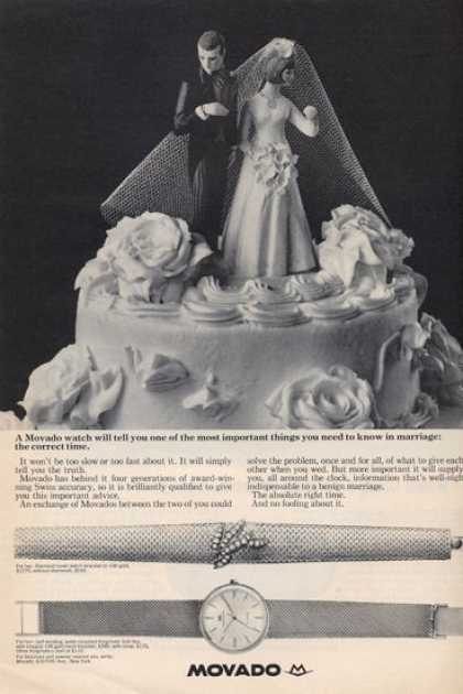 Movado Watch Wedding Cake Topper Checking (1965)