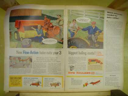 New Holland Baler cuts your 3 biggest baling costs (1959)