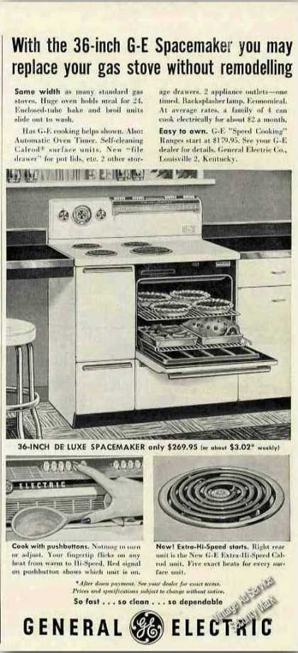 General Electric 36-inch Spacemaker Elec Range (1953)