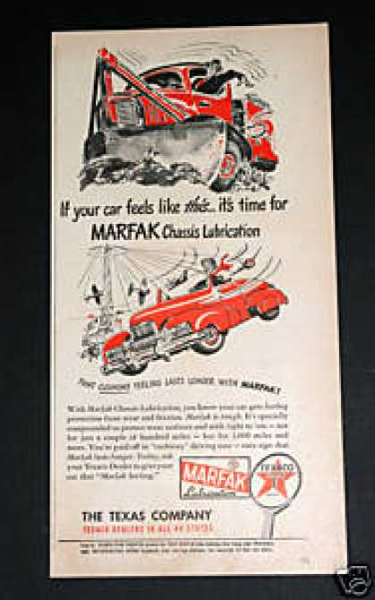 "Texaco, ""Marfak Lubricatio (1948)"