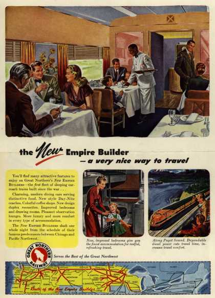 Great Northern Railway's Empire Builder – The New Empire Builder-a very nice way to travel (1947)