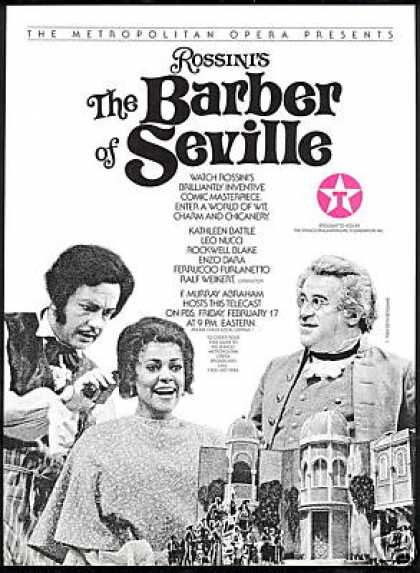 MET Opera Rossini's Barber Of Seville PBS (1989)