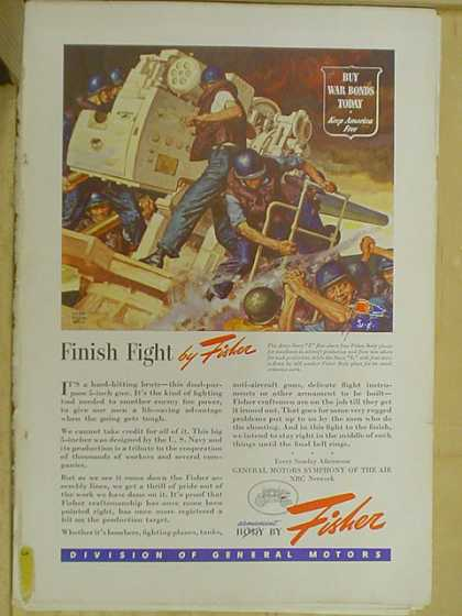 Body by Fisher. Finish fight. Buy war bonds (1941)