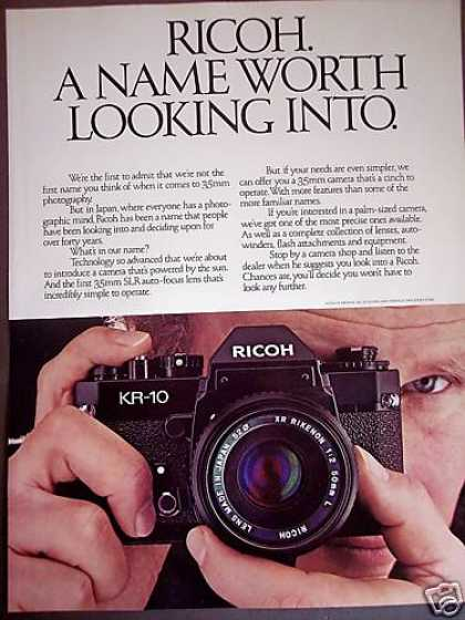Ricoh Kr-10 35mm Slr Camera (1981)