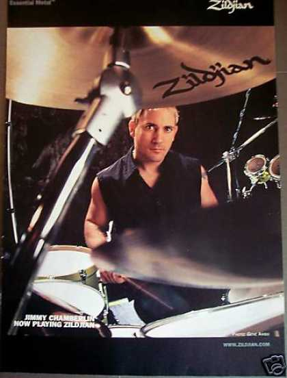 Drummer Jimmy Chamberlin Photo Zildjian Cymbals (2000)