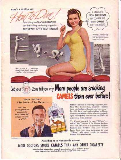 Camels Cigarettes -Diving Jim Fairbrother (1948)