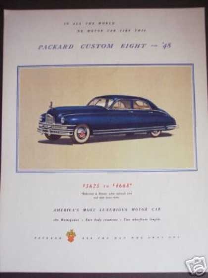 Blue Packard Custom 8 for '48 Car (1947)