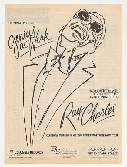 Ray Charles Genius at Work Booking Promo (1983)