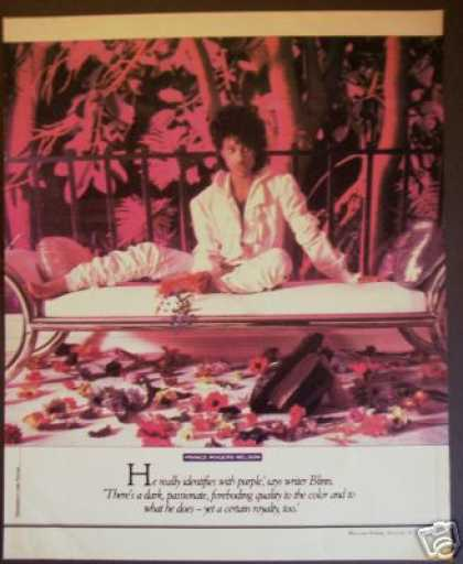 Prince & Flowers Mag Promo Photo By Larry Williams (1984)