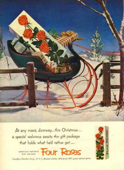 Four Roses Whiskey &#8211; Holiday Sleigh (1952)