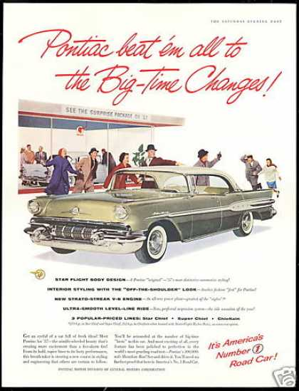 Pontiac Star Chief Car Photo Vintage (1957)