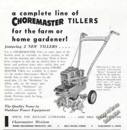 Choremaster Tillers Farm Advertising (1955)