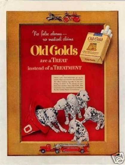 Old Gold Cigarettes Ad Dalmatians (1952)