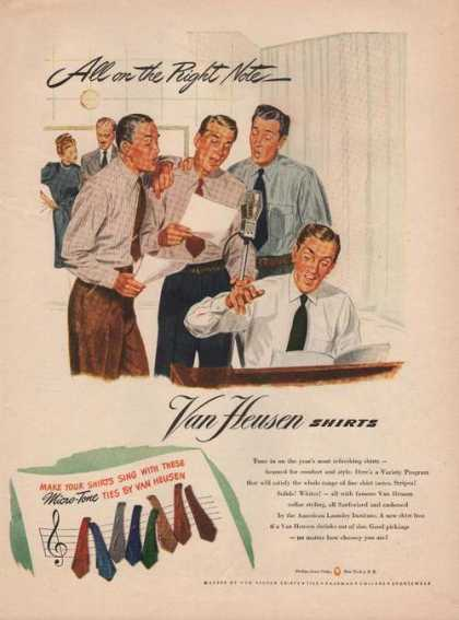 Van Heusen Mens Dress Shirts & Ties Print (1946)