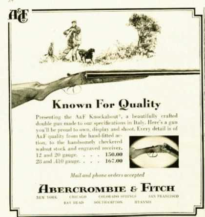 Abercrombie & Fitch Knockabout Shotgun (1962)