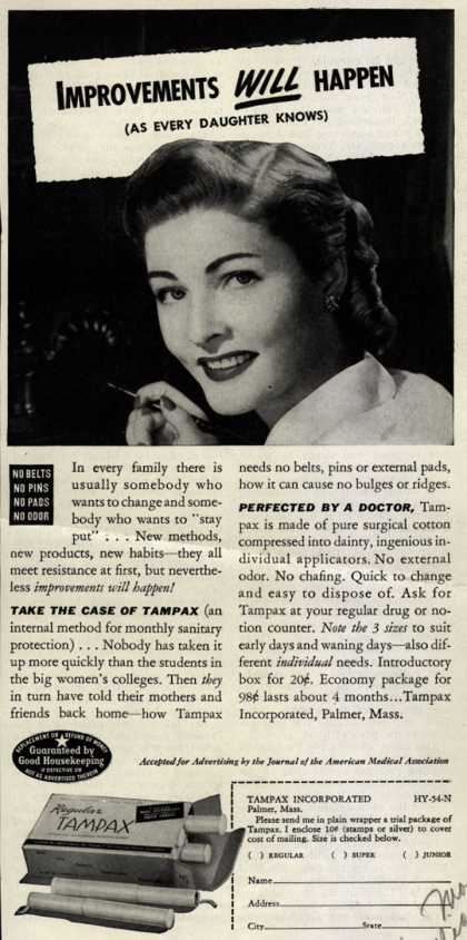 Tampax's Tampons – Improvements Will Happen (1944)