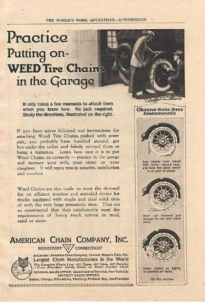 Weed's Tire Chains (1921)