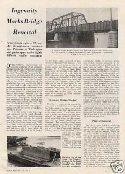 """Ingenuity Marks Bridge Renewal"" Article/prr (1945)"
