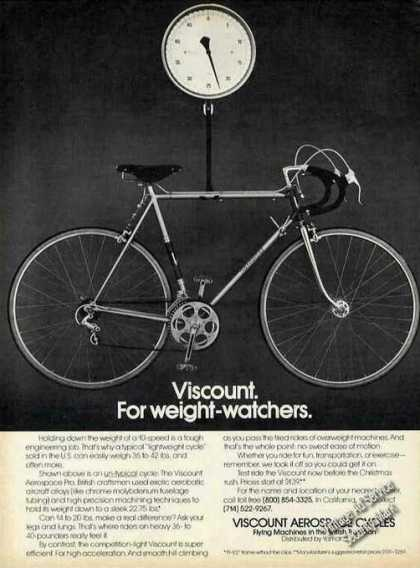 Viscount Aerospace Cycles for Weight-watchers (1976)