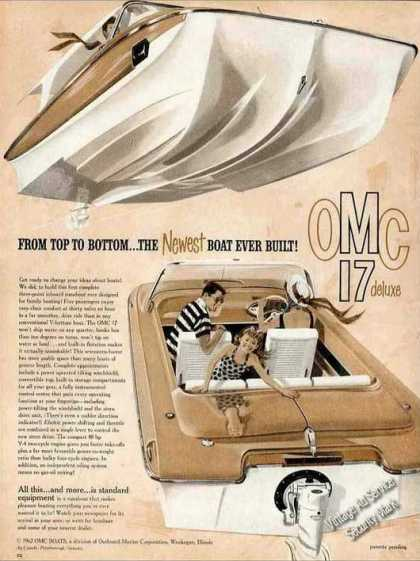 Omc 17 Deluxe Boat Art Collectible (1962)