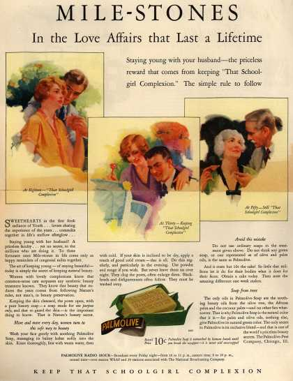 Palmolive Company's Palmolive Soap – MILE-STONES In the Love Affairs that Last a Lifetime (1928)