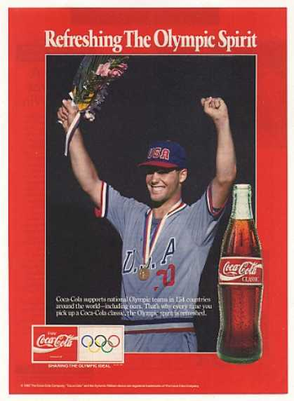 USA Olympic Spirit Coke Coca-Cola Photo (1992)