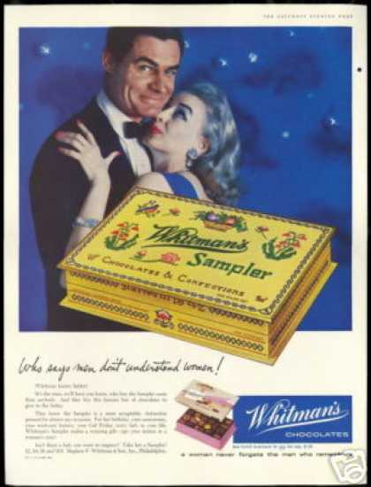 Whitman's Sampler Chocolates Romantic Couple (1957)