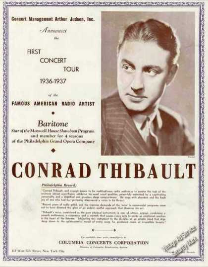 Conrad Thibault Photo Opera Concert Radio Trade (1936)