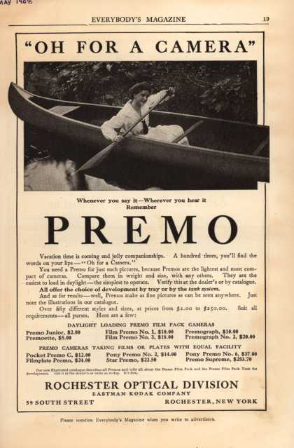 "Kodak's Premo cameras – ""Oh For A Camera""-Premo (1908)"