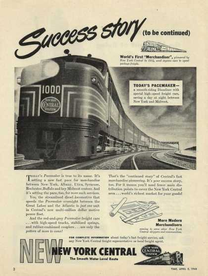 New York Central Success Story Train Print (1948)