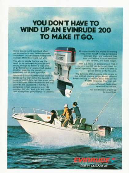 Evinrude Outboard Boat Motor Engine Ad T (1976)