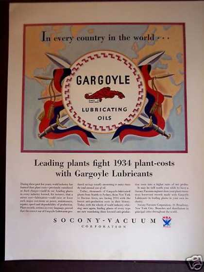 Gargoyle Lubricating Oils By Socony-vacuum Corp (1934)