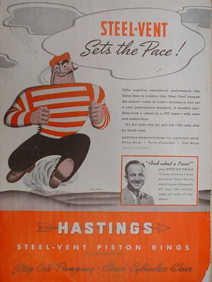 Hastings Steel Vent Piston Rings (1939)