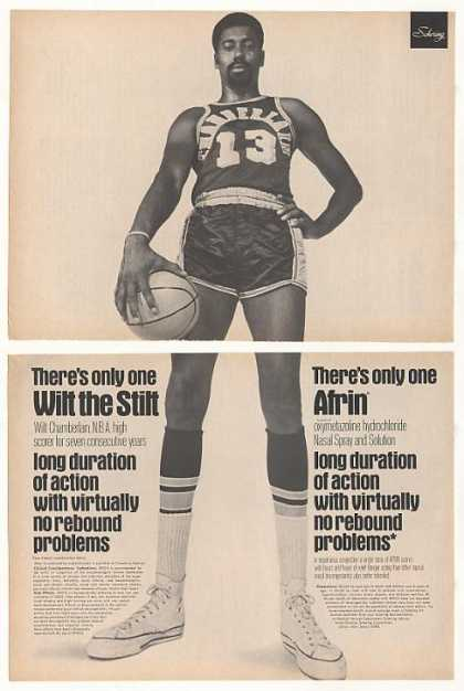 Wilt Chamberlain Afrin Nasal Spray Photo (1970)