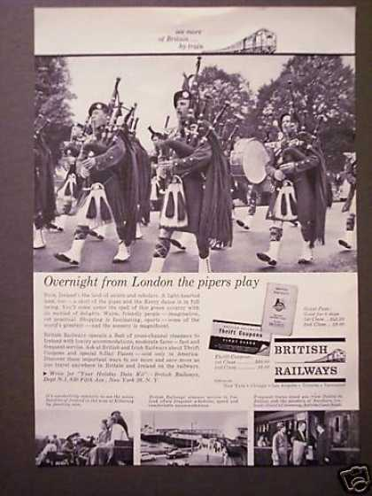 Britain By Train British Railways Bagpipers (1962)