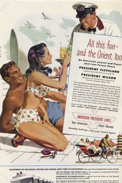 American President Lines Cruise Stanly Galli Ad T (1948)
