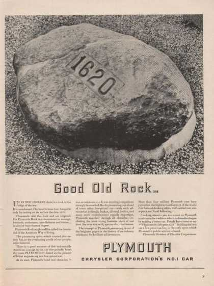 Good Old Rock Plymouth Chrysler Corp (1941)