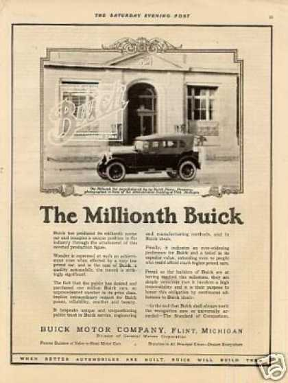 "Buick Car Ad ""The Millionth Buick... (1923)"
